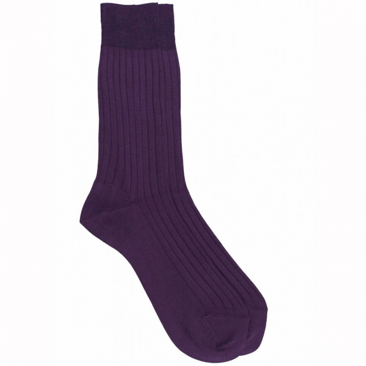 Yellow Socks with blue stipes