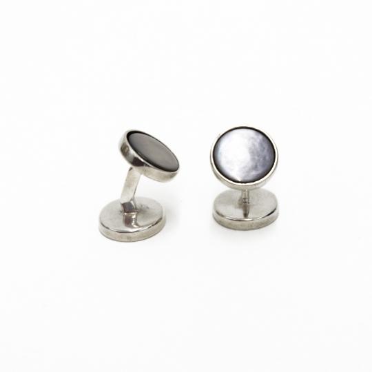Silber glänzend mit Perlmutt grau