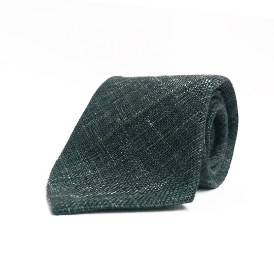 Seidengrenadine Krawatte grün