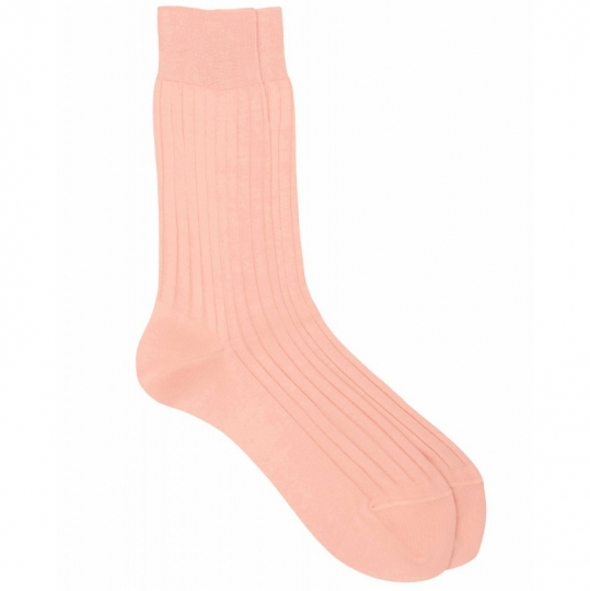 Pink Socks with Purple Stripes