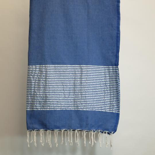 Badetuch aus Baumwolle, blau