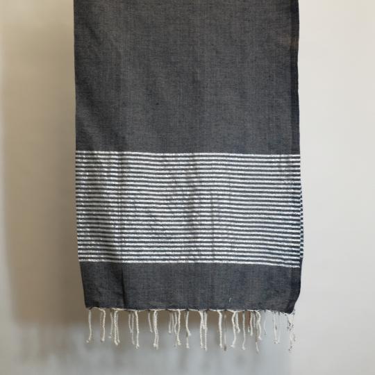 Badetuch aus Baumwolle, dunkelgrau