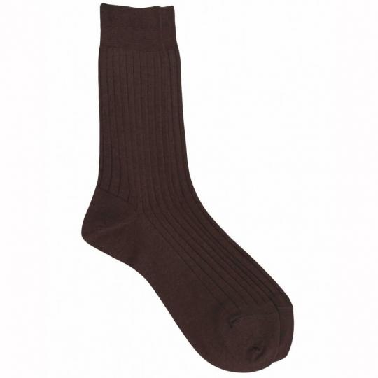 Green Socks with purple dots