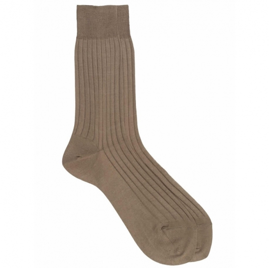 Socks with White and Blue Stripes