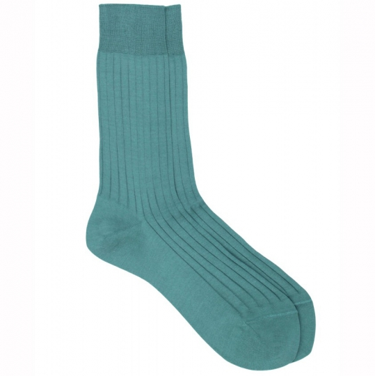 red socks with blue stripes