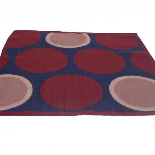 Einstecktuch handrolliert, grün mit Punkten
